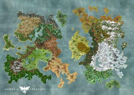 Carte Du Monde Ashes Of Creation Wiki